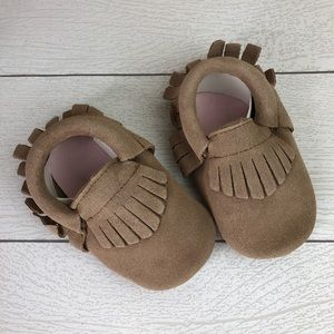 Other - Taupe Suede Baby Soft Sole Moccasins